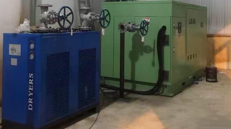 中山手机厂商与巨劲合作活塞式空气压缩机案例
